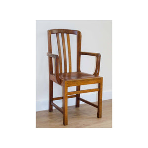 Stanley Webb Davies Stanley Webb Davies Arts and Craft Oak Armchair with Leather Seat 1936 1936