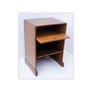 Stanley Webb Davies Stanley Webb Davies Arts and Craft Oak Bedside Cabinet