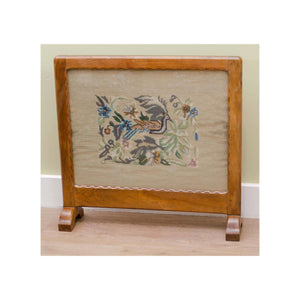 Stanley Webb Davies Stanley Webb Davies Arts and Crafts Walnut Framed Fire Screen 1934