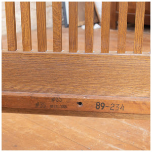 Stickley Arts & Crafts Mission School Oak Prairie Spindle Settle 2006