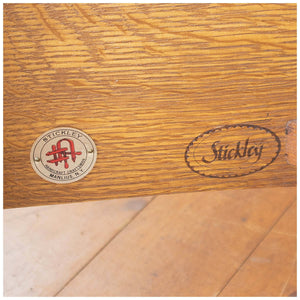 Stickley Arts & Crafts Mission School Oak Prairie Spindle Settle
