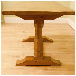 Wilf Squirrelman Hutchinson (Ex-Mouseman) Yorkshire School Oak Coffee Table