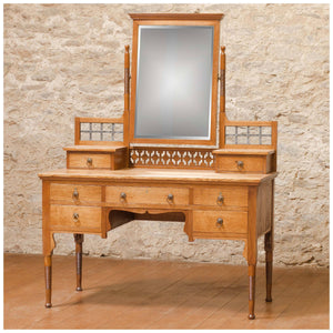 William Birch Arts & Crafts Oak Dressing Table c. 1910