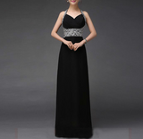 Crystal Halter Neck Gown