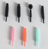 Silicone Mascara Wands Disposable Eyelash Brushes for Extensions 50 pieces/bag