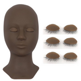 Eyelash Extensions Mannequin and Eyelids Training Combo Pack (one head + 4 pair eyes)