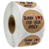Thank You Stickers Roll of 500 pcs -- dozens of different design --1.5 Inch