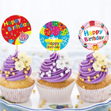 Happy Birthday Stickers Roll of 500 pcs -- 1.5 Inch