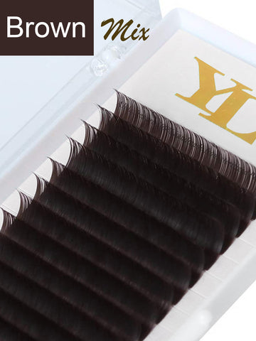 Dark Brown Lash - 0.07mm -Single Color -Mixed Length