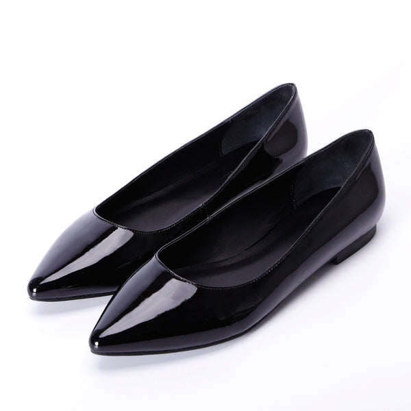 Patent Leather Pointed Toe Classic Slip On Flats