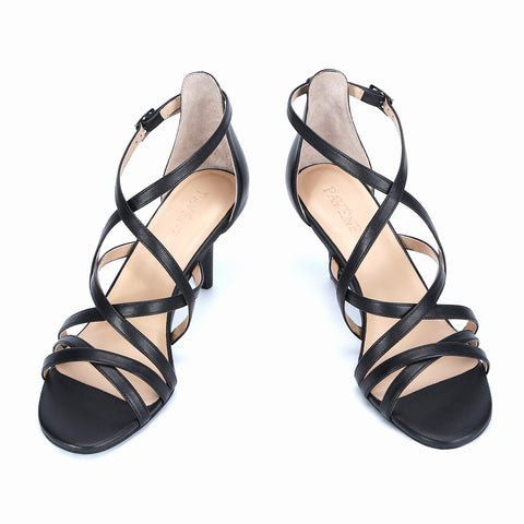 Open Toe 7CM Sandals, Genuine Leather