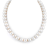 14K Gold Large 9-10mm AAA Quality Cultured Pearl Necklace 18 inches Princess Length