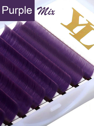 Purple Lash  - 0.07mm -Single Color -Mixed Length