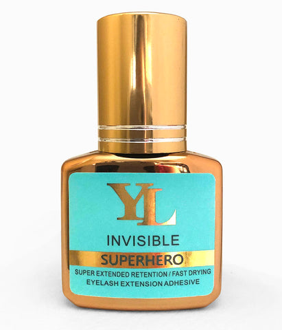 SUPERHERO Plus Invisible -1 Second Fast Drying -EXTRA STRONG- LONG RETENTION Eyelash Extension Glue CLEAR COLOR 10ml