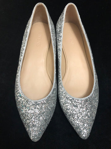 GLAMOROUS  Glitter Pointed-Toe Flats
