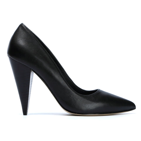 10CM High Heels Women Pointed Toe Pumps, Genuine Leather