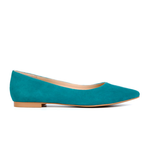 Suede Leather Pointed-Toe Slip On Flats