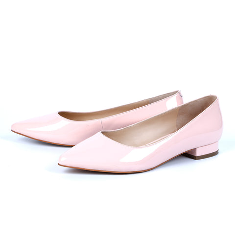 Patent Leather Pointed-Toe Flats