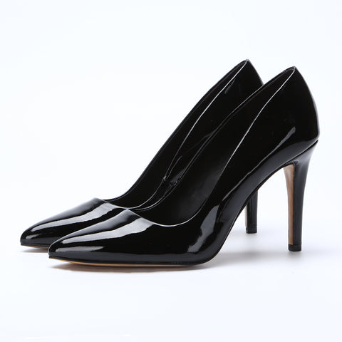 Patent Leather 10CM High Heels Women Shoes Party Wedding Pointed Toe Pumps