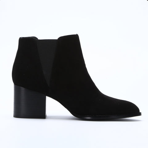 6.5CM Low Chunky Heel Comfortable Women Ankle Boots Classic Pointed Toe Shoes