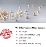 Magnic Clasp AAA Quality 10-11mm Cultured Pearl Necklace with 18K Gold Plated 925 Sterling Silver Clasp
