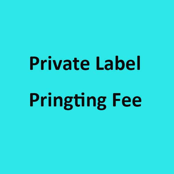 Private Label Printing Fee FOR 2000 pieces sticky labels