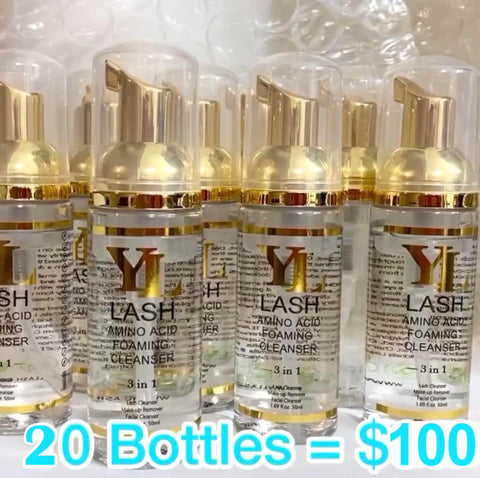 Luxury Amino Acid Eyelash Extension Shampoo 50ml × 20 bottles