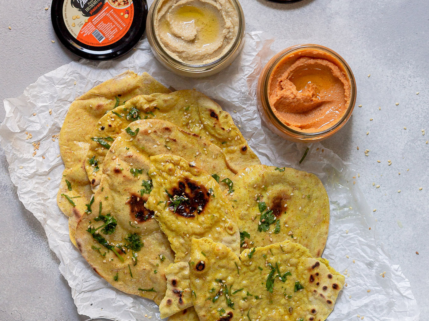 Pan Naan para Untar en Hummus Perfect Choice
