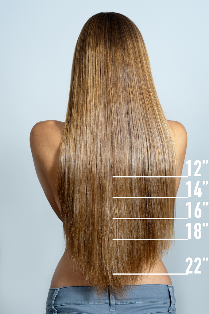 Hair Length Chart Unlimited Extensions