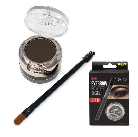 SHE eyebrow powder & gel 24hr
