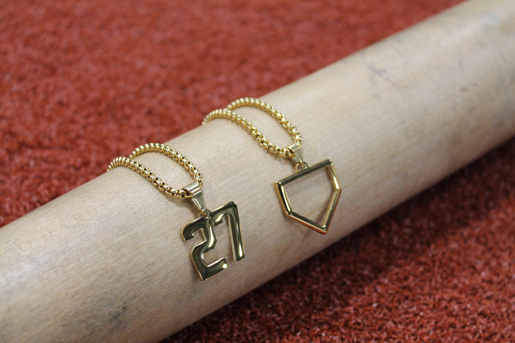 Home Plate Pendant - GOLD