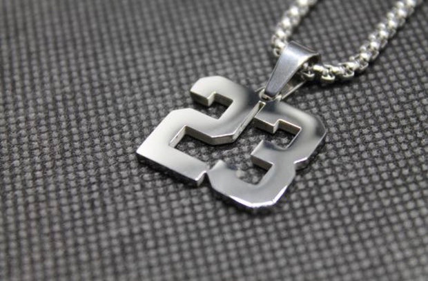 Number Pendant 51-99 SILVER w/Chain