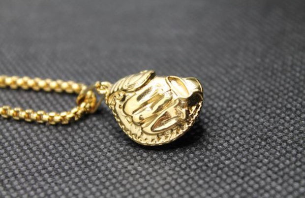 Catchers Mitt Pendant - Gold