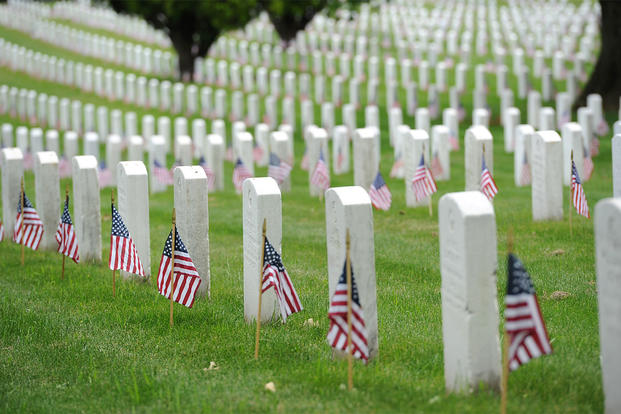Arlington Cemetery - PC: Petty Officer 2nd Class Patrick Kelley, U.S. Coast Guard (https://www.military.com/memorial-day/its-time-you-know-difference-between-veterans-day-and-memorial-day.html)