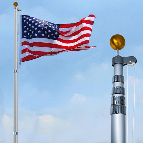 Giant Telescoping Flag Pole Kit (Ships August 20th)