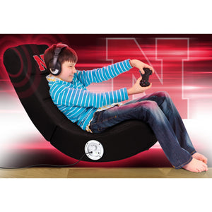 University of Nebraska Bluetooth Rocker Gaming Chair - Racer Gaming Chairs