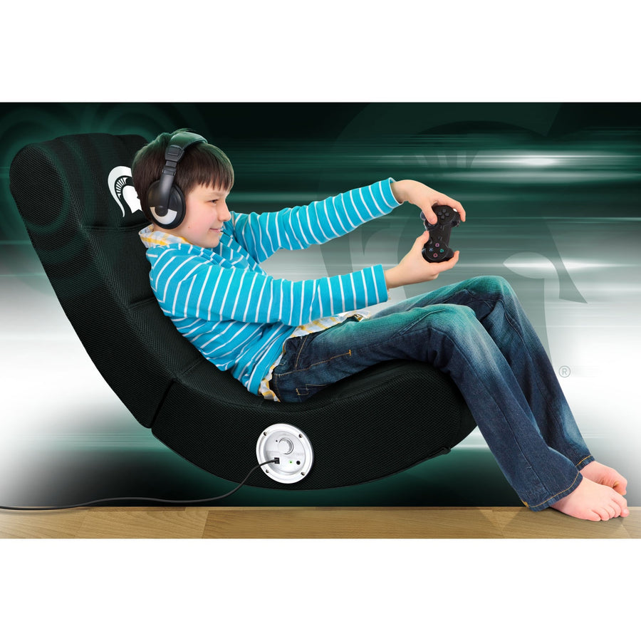 Michigan State Bluetooth Rocker Gaming Chair - Racer Gaming Chairs