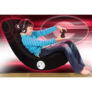 University of Georgia Bluetooth Rocker Gaming Chair - Racer Gaming Chairs