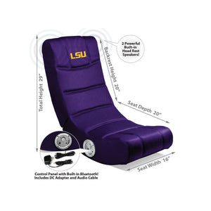 Louisiana State University Bluetooth Rocker Gaming Chair - Racer Gaming Chairs