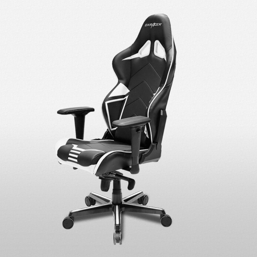 DXRacer OH/RV131/NW Black/White Racing Series Gaming Chair - Racer Gaming Chairs