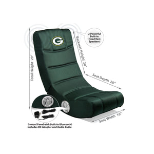 Green Bay Packers Bluetooth Rocker Gaming Chair - Racer Gaming Chairs