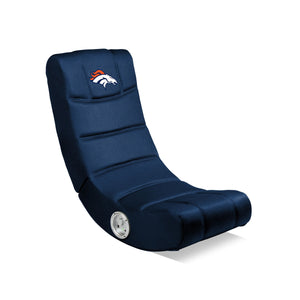 Denver Broncos Bluetooth Rocker Gaming Chair - Racer Gaming Chairs