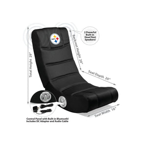 Pittsburgh Steelers Bluetooth Rocker Gaming Chair - Racer Gaming Chairs