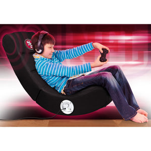 San Francisco 49ers Bluetooth Rocker Gaming Chair - Racer Gaming Chairs