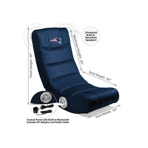 New England Patriots Bluetooth Rocker Gaming Chair - Racer Gaming Chairs