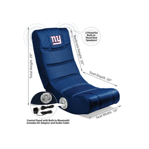 New York Giants Bluetooth Rocker Gaming Chair - Racer Gaming Chairs