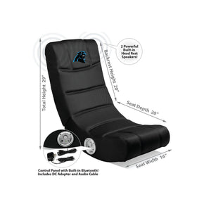 Carolina Panthers Bluetooth Rocker Gaming Chair - Racer Gaming Chairs