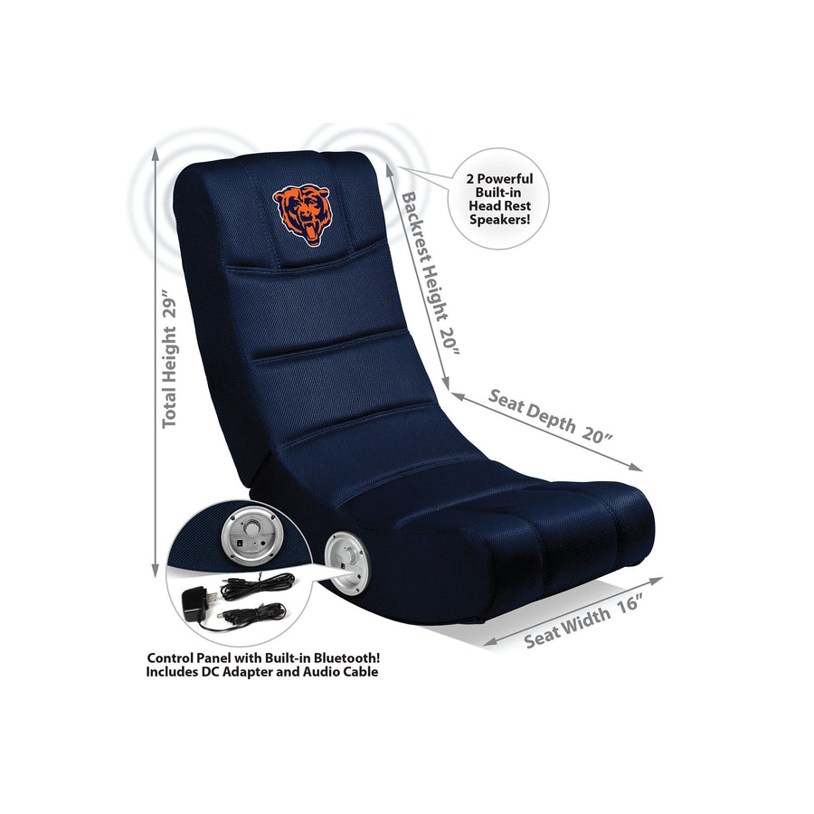 Chicago Bears Bluetooth Rocker Gaming Chair - Racer Gaming Chairs