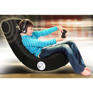 New Orleans Saints Bluetooth Rocker Gaming Chair - Racer Gaming Chairs