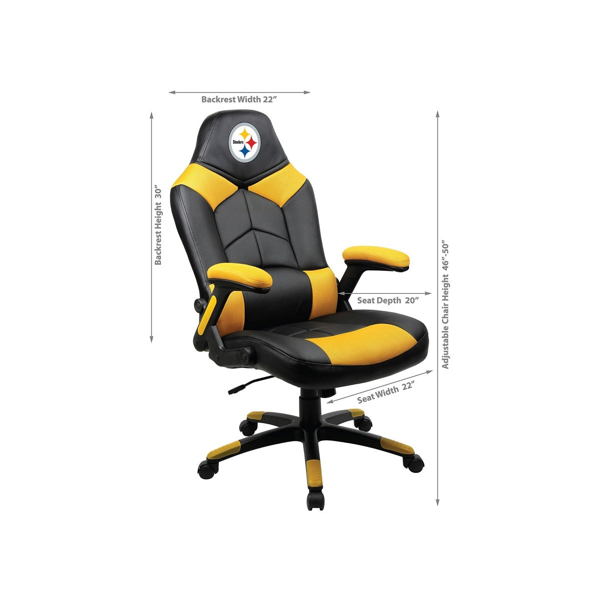 Pittsburgh Steelers Oversized Licensed Gaming Chair   Racer Gaming Chairs